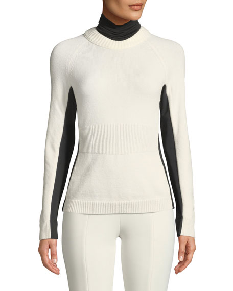 Moncler Grenoble Colorblock Knitted Turtleneck Sweater