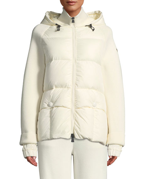 Moncler Grenoble Spa Down & Knit Combo Coat