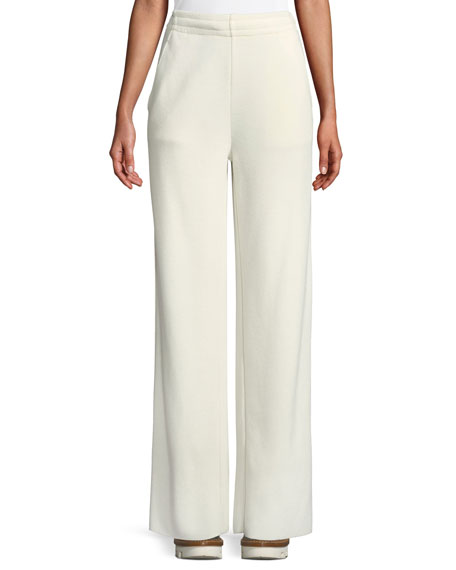 Moncler Grenoble Wide-Leg Spa Pants w/ Elasticized Waist