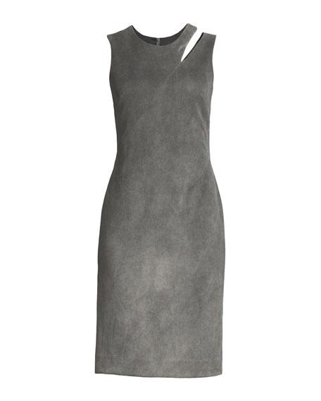 Fractured Velvet Sheath Dress