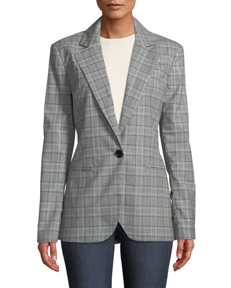 Italian Check Boyfriend Suiting Jacket