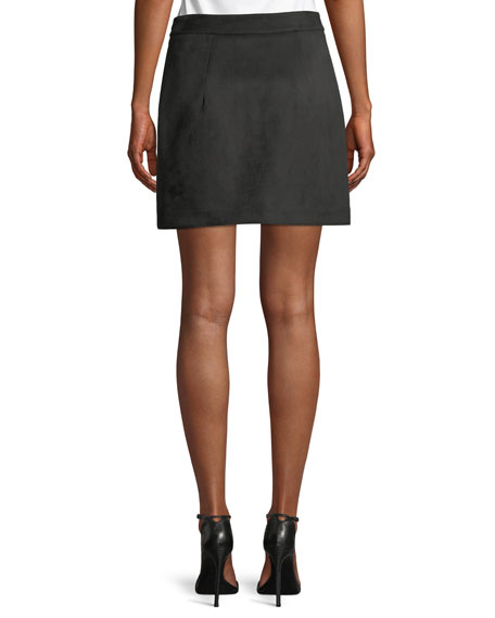 Modern Velvet Mini Skirt