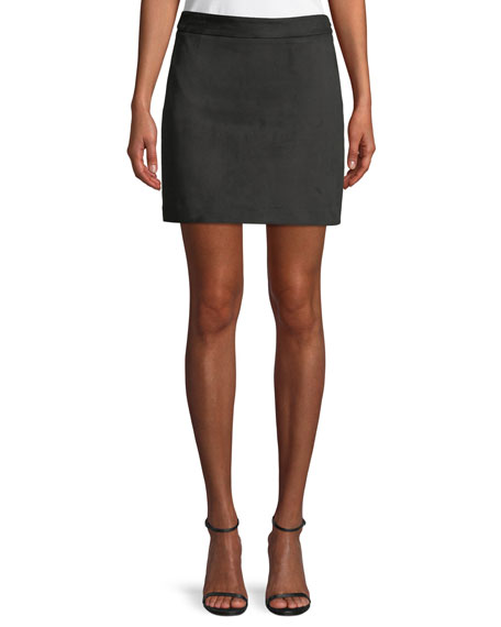 Milly Modern Velvet Mini Skirt