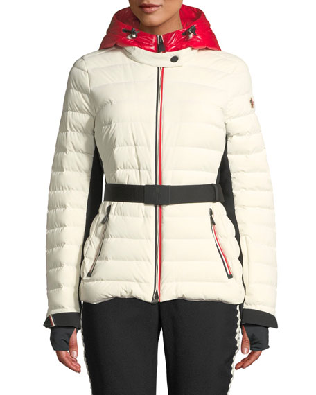 Moncler Grenoble Bruche Channel-Quilted Puffer Coat and Matching