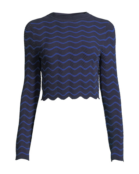 Textured Wave Pullover Sweater