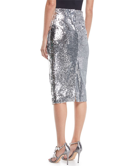 Jami Sequined Pencil Skirt