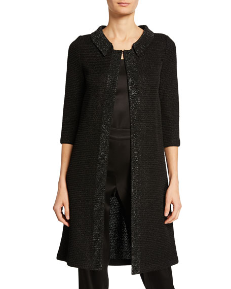 Allure Knit 3/4-Sleeve Topper Coat