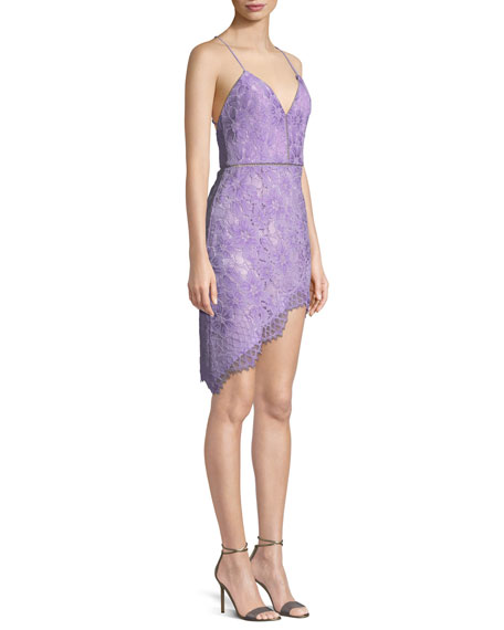 Only Yours Strappy Lace Cocktail Dress