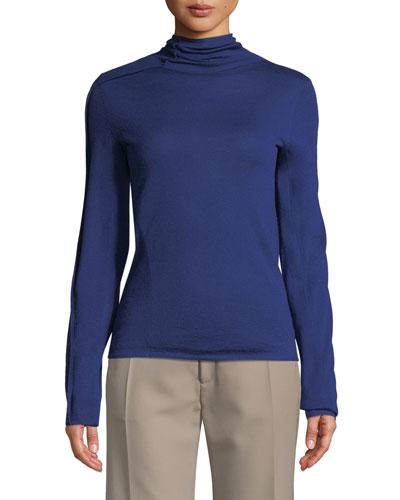 3D-Knit High-Neck Sweater