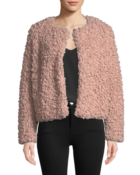 Curly Faux-Fur Jacket