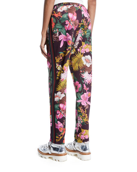 Floral-Print Straight-Leg Track Pants