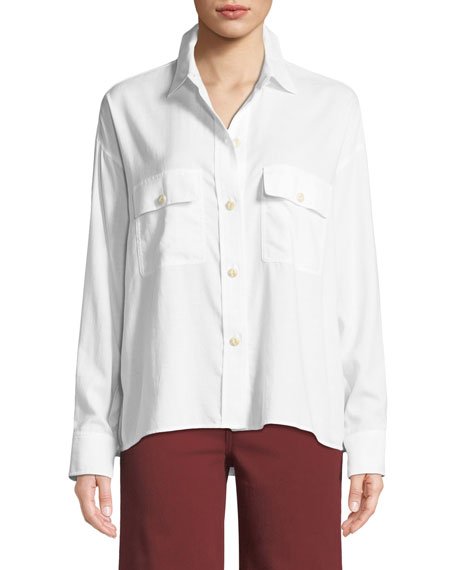 Vince Long-Sleeve Button-Front Utility Shirt and Matching Items