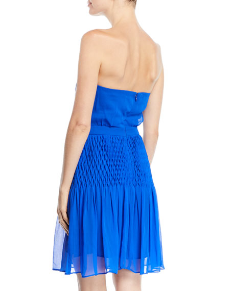 Strapless Dress in Silk Crepe
