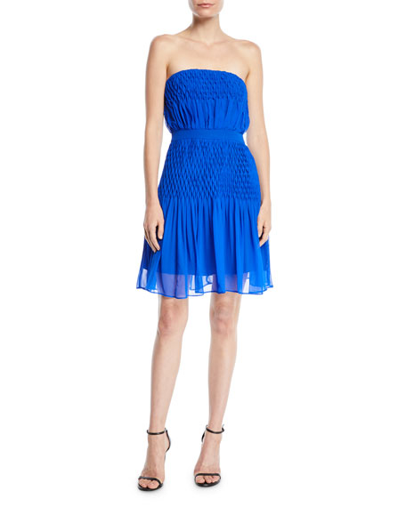 Aijek Strapless Dress in Silk Crepe