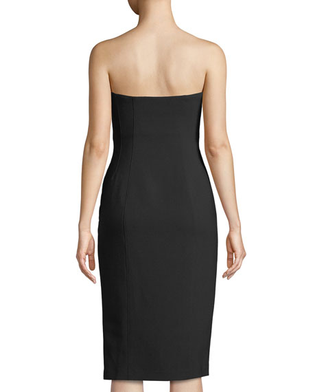 Charlotte Strapless Lace-Up Midi Dress