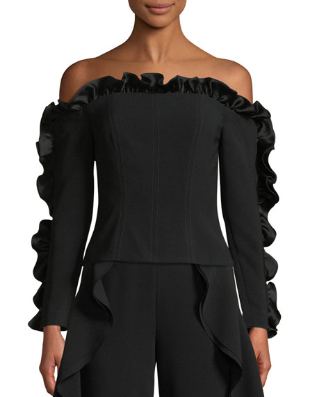 Macie Off-the-Shoulder Ruffle Blouse
