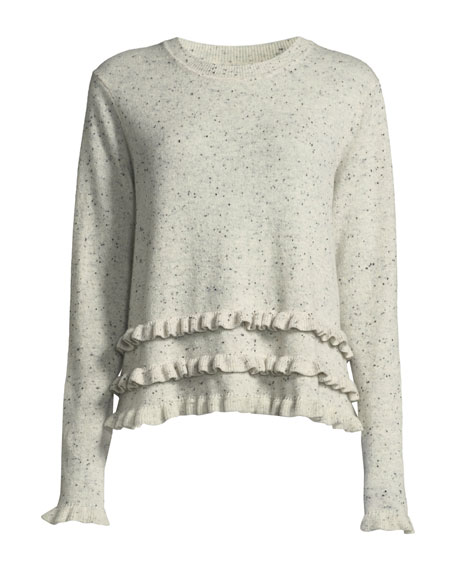 Adiella Ruffle-Trim Cashmere Sweater