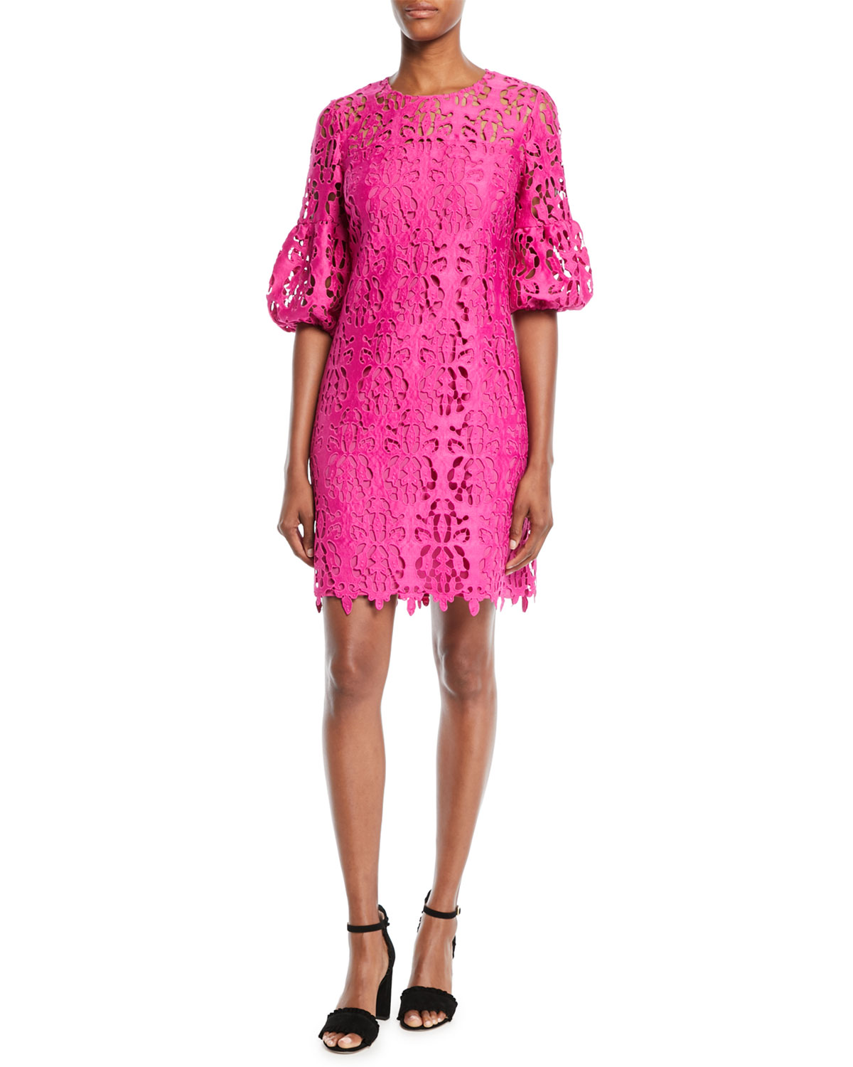 Vina Lace Dress W Bell Sleeves