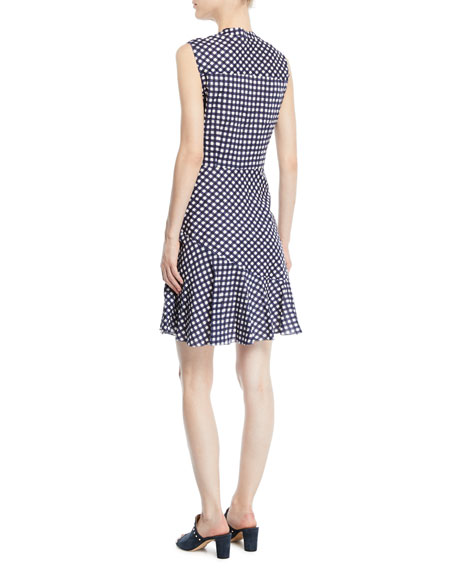 Ayden Asymmetric Gingham Dress