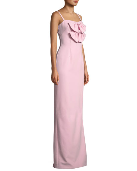 Milayla Column Gown w/ Bow Details