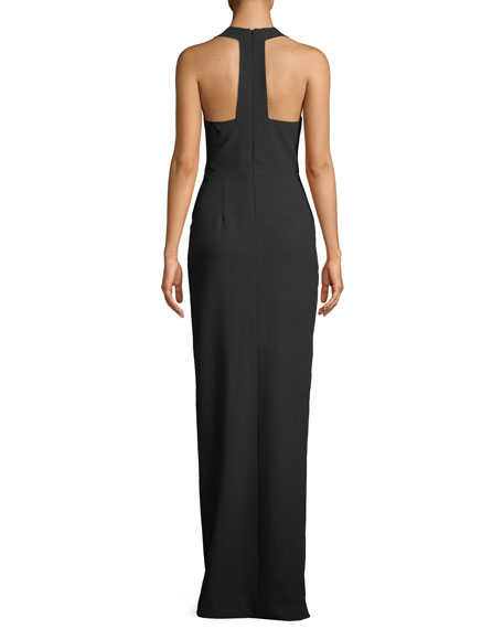 Raelyn Sleeveless Column Gown w/ Pockets