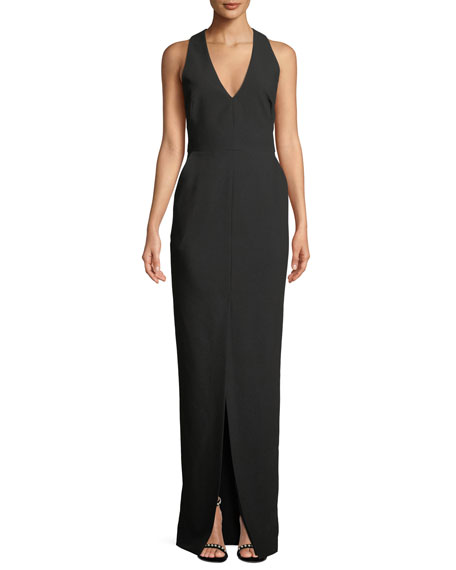 Black Halo Raelyn Sleeveless Column Gown w/ Pockets