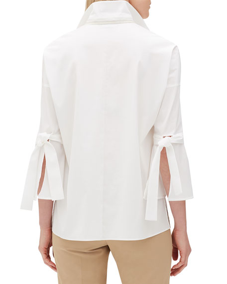 Kinsley Italian Stretch Cotton Blouse