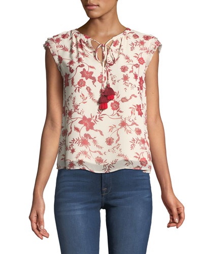 Sophie Sleeveless Floral-Print Top