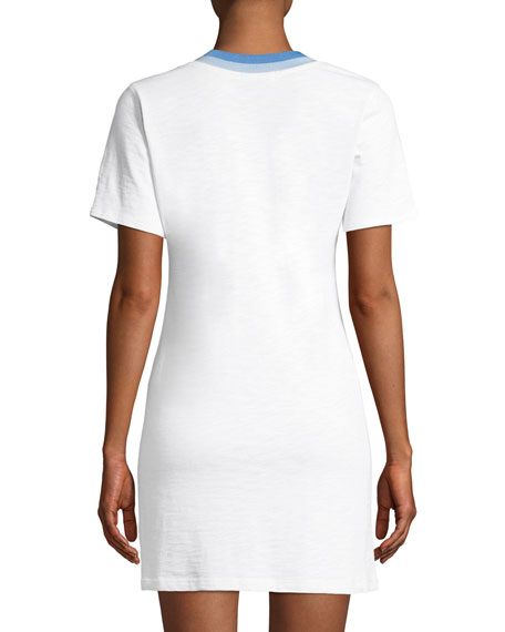 Jolie Crewneck Mini-Length Tee Dress