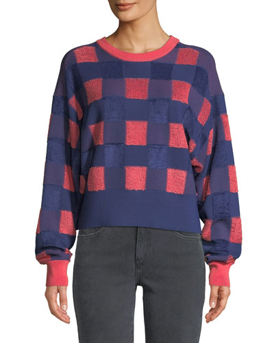 Ridley Gingham Pullover Sweater