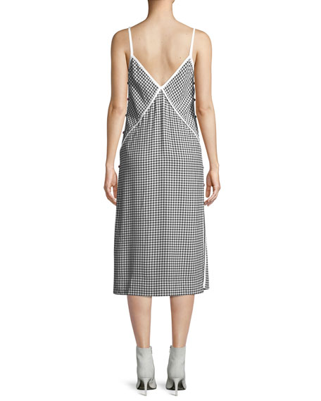 Laurie Check Side-Button Tank Dress