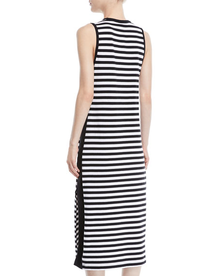 Brit Striped Side-Split Tank Dress