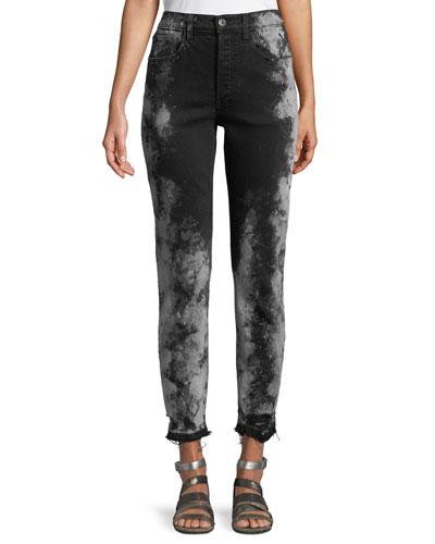 W3 Higher Ground Cropped Jeans w/ Distressed Hem