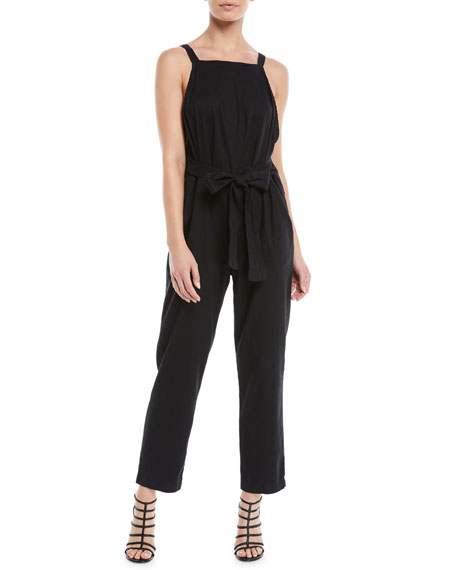 3x1 Antifit Sleeveless Cropped Cotton Jumpsuit