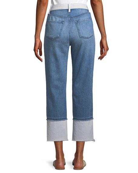 Wynne High-Rise Cropped Straight-Leg Jeans