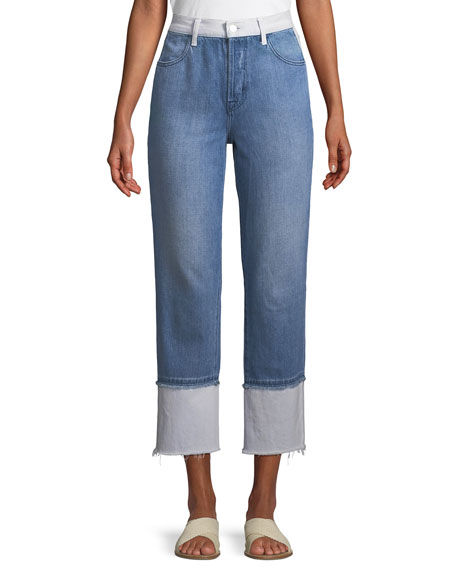 J Brand Wynne High-Rise Cropped Straight-Leg Jeans