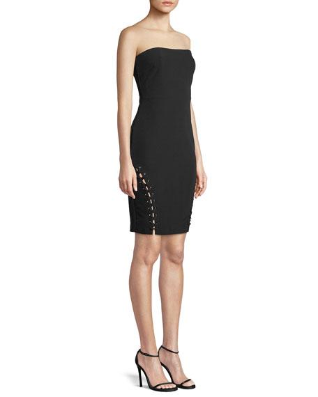 Luna Strapless Lace-Up Mini Dress