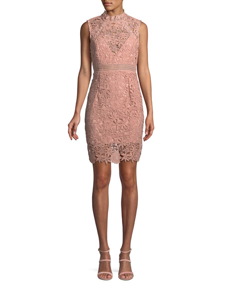 Paris Floral Lace Mini Dress