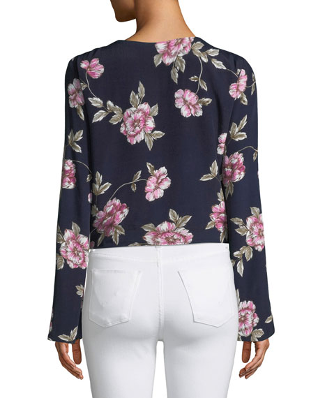 Jerome Floral Button-Front Top