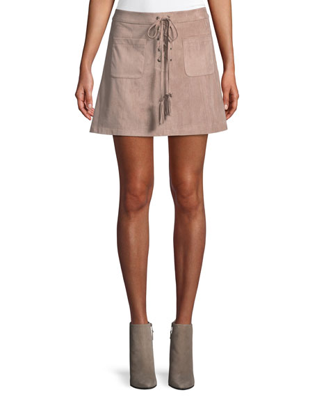 Marcel Lace-Up Mini Skirt