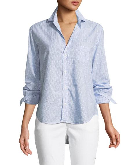 Frank & Eileen Eileen Micro-Print Cotton Button-Front Shirt