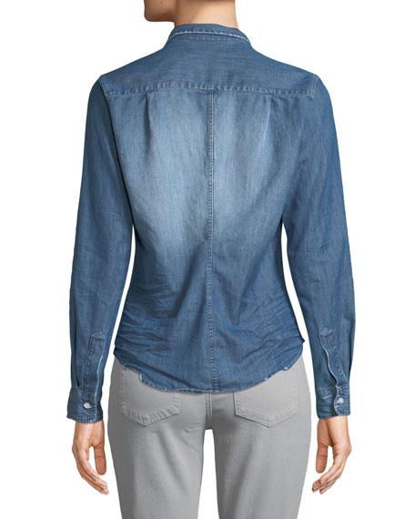 Barry Long-Sleeve Button-Front Denim Shirt