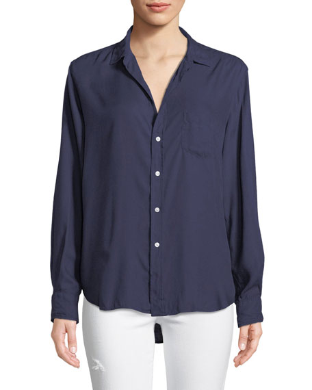 Frank & Eileen Eileen Long-Sleeve Button-Front Modal Pocket
