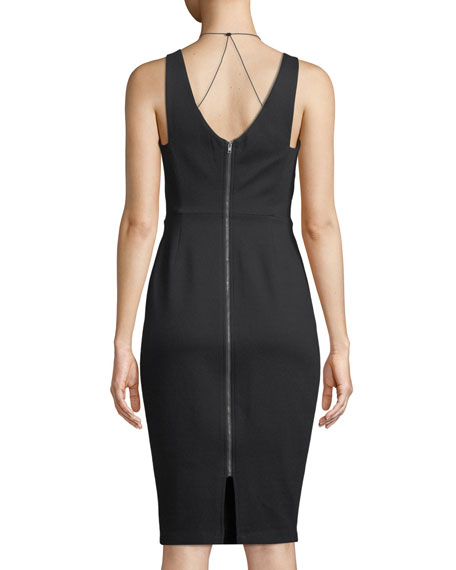 All Nighter Sleeveless Mesh-Layer Dress