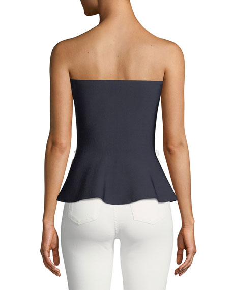 Honor Student Strapless Peplum Top
