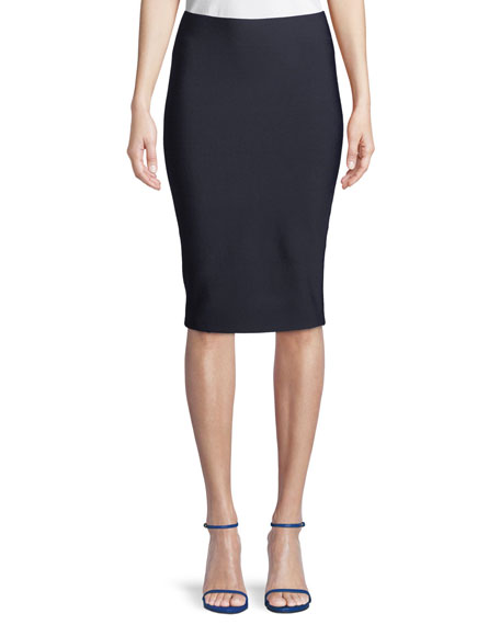 Poly-Sci Pull-On Midi Skirt