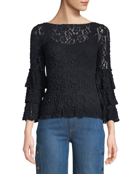 Sorority Lace Bell-Sleeve Top
