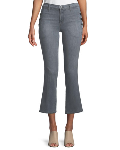 Zion Cropped Boot-Cut Jeans