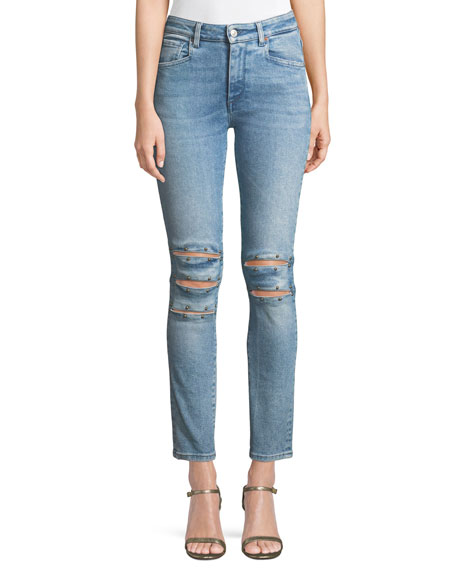 ACYNETIC KELLY SHARON WILLA STUDDED SKINNY ANKLE JEANS