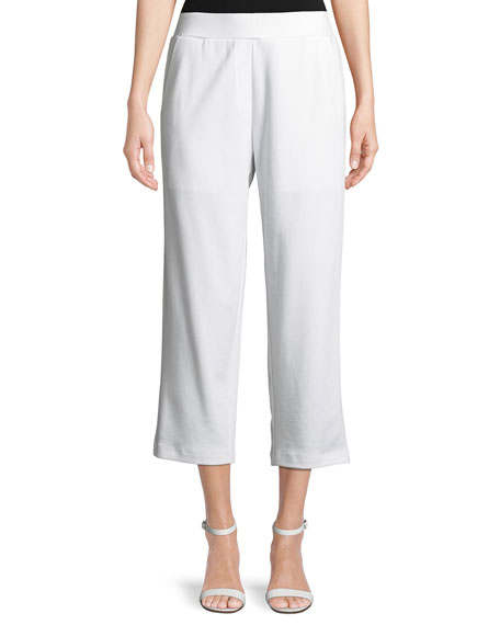 Cropped Ponte Trousers, Petite